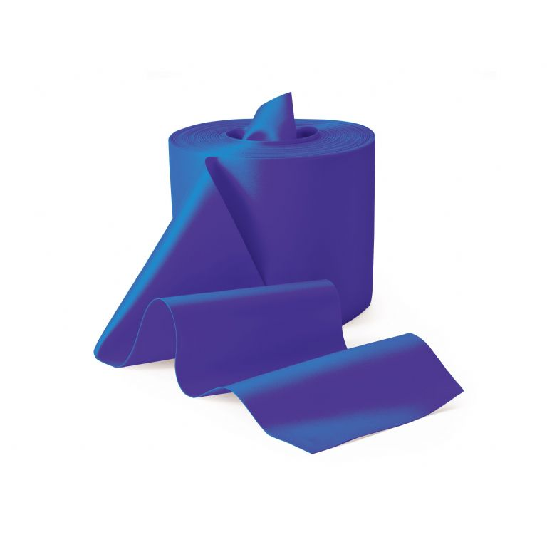MED90-Blue Latex Free Exercise Band 50 Metre Roll