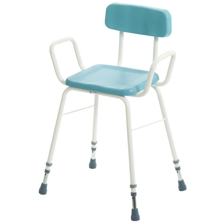 SMH006-Perching Stool with Arms & Padded Back