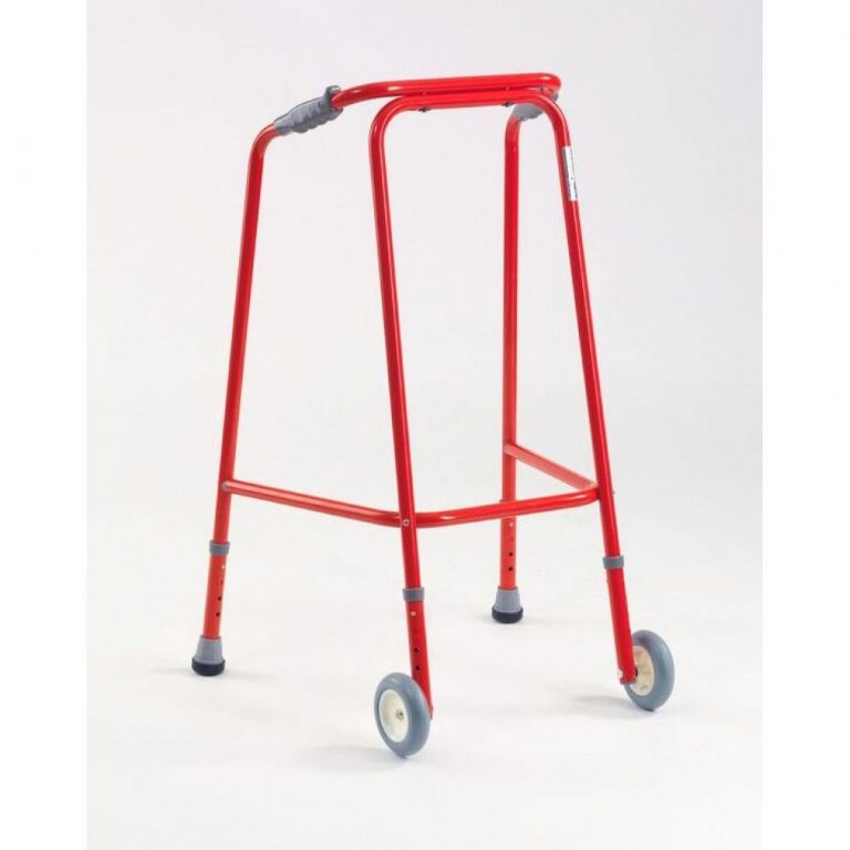 SMM001R-Small Wheeled Walking Frame in Red