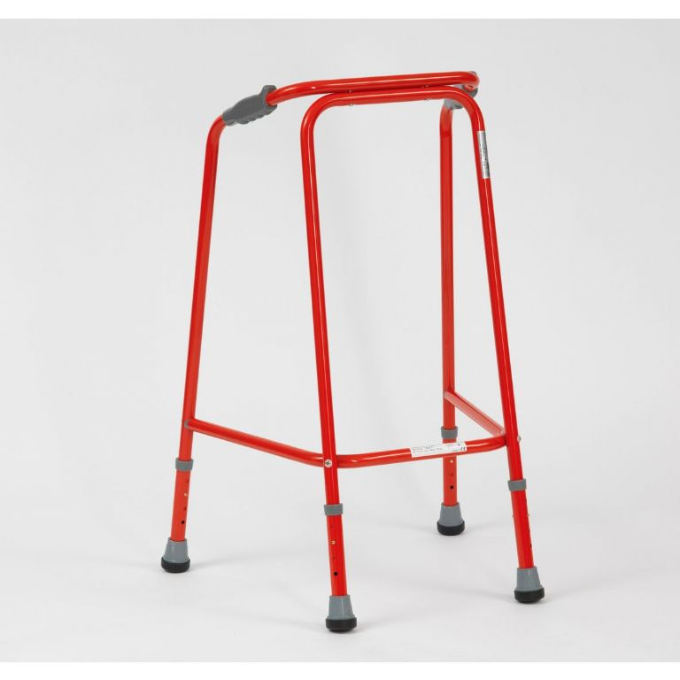 SMM004R-Small Unwheeled Walking Frame in Red
