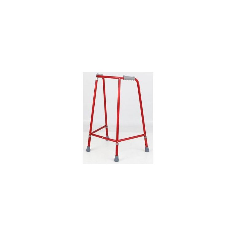 SMM011R-Ultra Narrow (M) Unwheeled Walking Frame Red