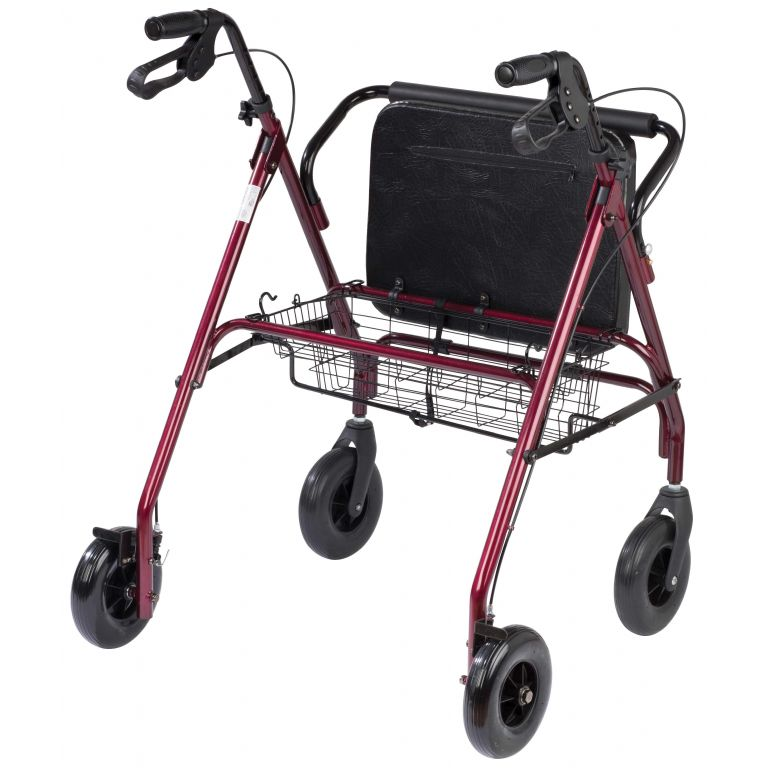 SMM061-Bariatric Rollator in Red