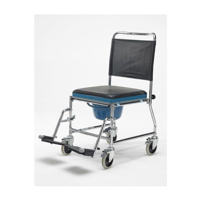 SMT006RA-Mobile Commode with Footrests & Removable Arms