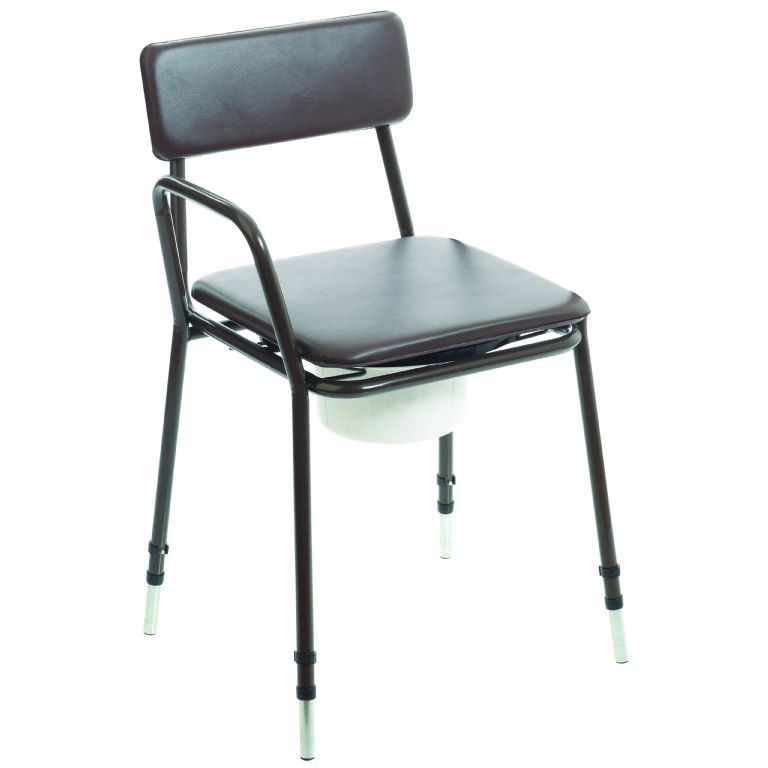 SMT009-Adjustable Height Commode with Detatchable Arms