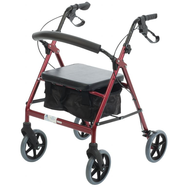SMM049-Simplymed 4 Wheel Walker-PU seat